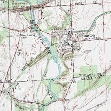 map of the erie canal miami erie canal shelby county ohio canal piqua east usgs