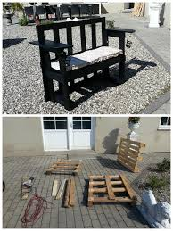 Patio Furniture Made Out Of Pallets by Stenildhuset Bench Made Out Of Three Recycled Pallets U2022 1001 Pallets