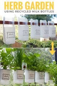 Indoor Herbal Garden Indoor Bottle Herb Garden From Recycled Milk Bottles U2022 Grillo