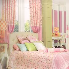 style pink curtain panels floral patterns