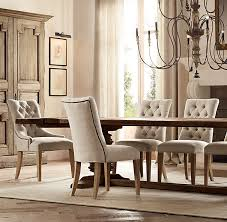 Tufted Dining Chair Set Tufted Dining Room Chairs Visionexchange Co