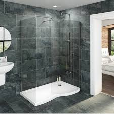 Small Bathroom Ideas With Walk In Shower by V6 Curved Walk In Shower Enclosure U0026 Tray Pack 1400 X 900 Rh