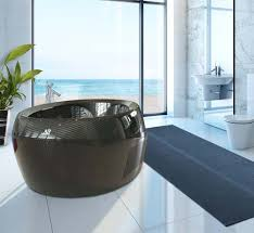 Fiber Bathtub Luxurious Black Bathtub Made From Carbon Fiber Modern Interior