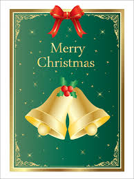christmas bells card template free stock photo public domain