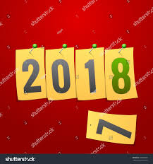 happy new year note cards happy new year 2018 creative greeting stock vector 739839586