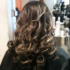 curls with smoothing iron by valarie at mardonsalon www