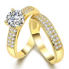 buy old rings images Hot sale stainless steel aaa cz zicron couple engagement rings set jpg