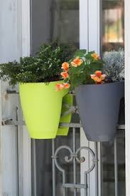 deck rail hanging baskets with rods the set 7 99 gardening