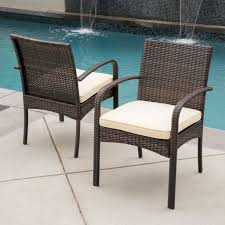 Noble House Dining Chairs Rosario Outdoor Wicker Dining Chairs Set Of 2 U2013 Noble House