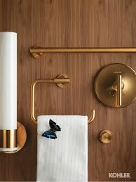 lovely kohler purist wall sconce brushed gold faucet contemporary