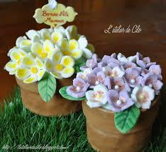 Fleurs Pour Fete Des Meres L U0027atelier De Cilo Gâteau Pot De Fleurs En Pâte à Sucre Pour