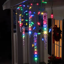 gemmy lightshow christmas lights 87 count led shooting star icicle