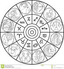 aries zodiac sign horoscope circle watercolor stock vector image