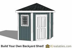 Garden Shed Plan 5 Sided Corner Shed Plans
