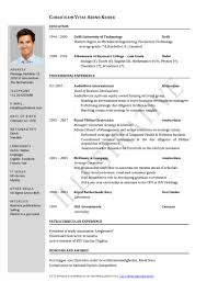 Job Resume Format Examples by Resume Format For Job Resume For Your Job Application
