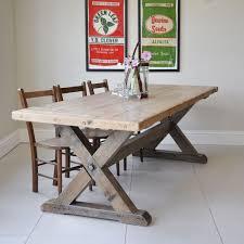 XXL Esstisch  X  Cm Hartholz Massiv Eßtische Dining - Trestle kitchen tables