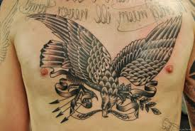 traditional eagle chest tattoo wonderful american eagle tattoo on