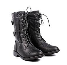 womens mid calf boots canada fl by ksc womens mid calf boots accented ankle chain casual zip up