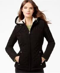 laundry design coat laundry by design petite faux fur lined quilted velour coat coats