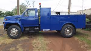 93 Ford Diesel Truck - 1994 ford f700 service truck utility bed cummins diesel 6bt 5 9