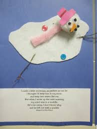 melting snowman with rita wilson poem students created a story