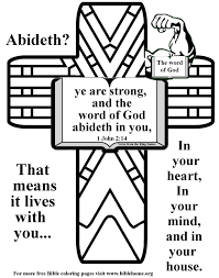 bible coloring pages about strength plus free vbs crafts