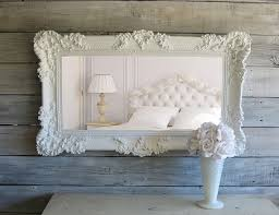Shabby Chic Large Mirror by C H I C Shabby White Mirror Cottage Chic By Smallvintageaffair