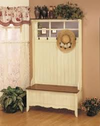 Entryway Storage Bench With Coat Rack Entryway Tree With Storage Bench Foter