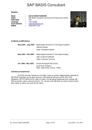 Technical Consultant Cv Sap Bpc Consultant Resume Free Resume Example And Writing Download