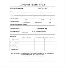 job application template word document template