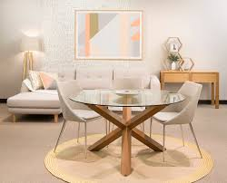 Round Glass Dining Table And Chairs Glass Dining Room Table Set For Home Furniture Ideas Home Within