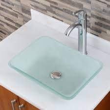 Clear Glass Bathroom Sinks - modern bathroom sinks allmodern