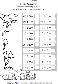division for grade 3 division worksheets divide numbers by 1 to 10