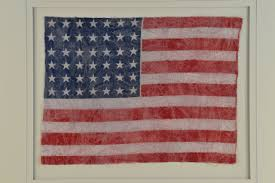 Red White Flag With Blue Star Antique 42 Star Flag Circa 1890