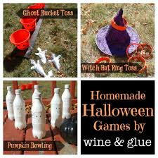 homemade halloween games wine u0026 glue