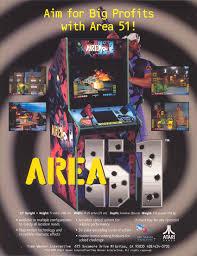 light gun arcade games for sale promotional poster for area 51 a light gun arcade game from 1995