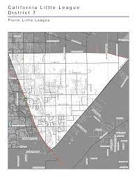 Elk Grove Ca Map Florin Little League