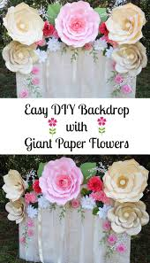 backdrop paper easy paper flower backdrop assembly abbi kirsten collections