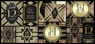 art deco gatsby glamour design collection style feature