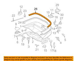 mercedes oem 06 09 clk350 convertible soft top trim molding