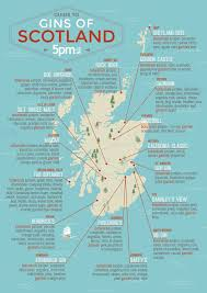 Map Of Scotland And England Are The Best Gins Made In Scotland New Ginfographic Maps Out