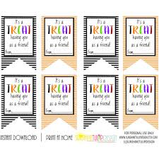 printable halloween gift tags it u0027s a treat having you as a friend