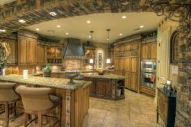 architectural design of the luxury home kitchen that has stone