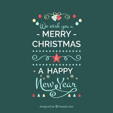 we wish you a merry and a happy new year vector free