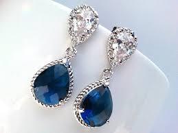 blue earrings sapphire navy earrings blue wedding earrings navy post