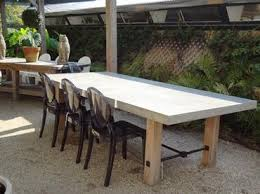 charming design concrete outdoor dining table cool ideas concrete