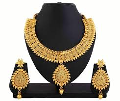 gold necklace with earrings images Gold necklace with earring vaibhav abhushan jpg
