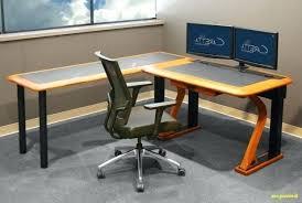 Computer Desk For Two Monitors Computer Desk For 2 Monitors Magnificent Dual Monitor Setup