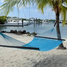 Pawleys Island Hammock Stand Large Soft Spun Polyester Caribbean Hammock In Aruba Blue Dfohome