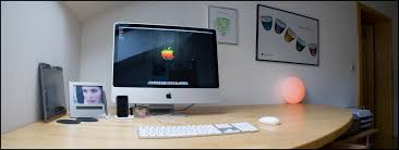 imac desk decorating ideas magnificent design ideas using round white wall